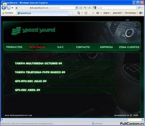 Sección de descargas de la web de Speed Sound